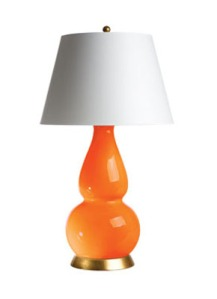 Orange Gourd Lamp