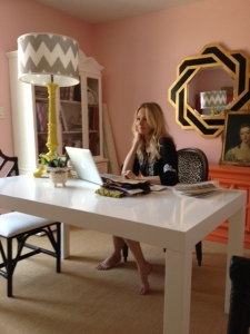 Parsons Desk + Palm Beach Mirror