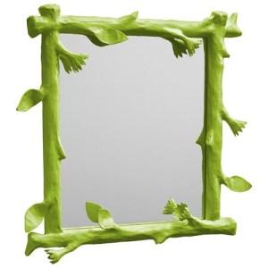 Green Faux Bois Mirror