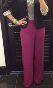 Wide Leg Pink Pants + Blazer