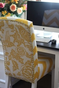 Toile Desk Chair