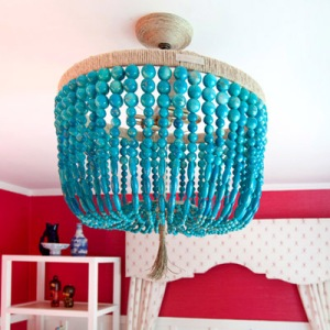 Turquoise Beaded Chandelier