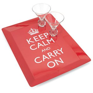Keep Calm Drinks Tray