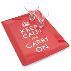 Keep Calm Drinks Tray