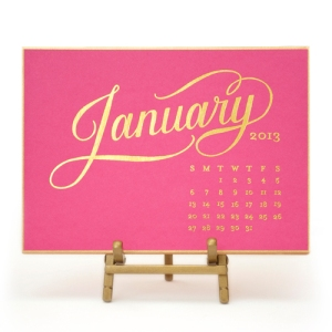 Raspberry Kate Desk Calendar