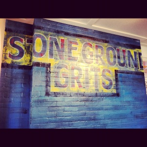 Stoneground grits.