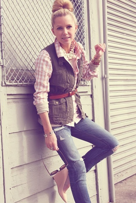 Sophisticated Casual Vest Look