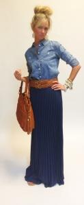 Chambray + Maxi Skirt
