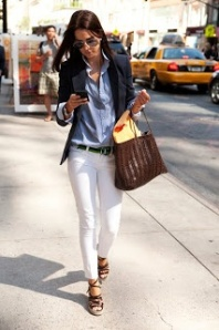 Chambray + Blazer + White Denim