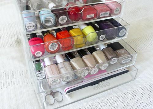 get organized nail polish the glitter life