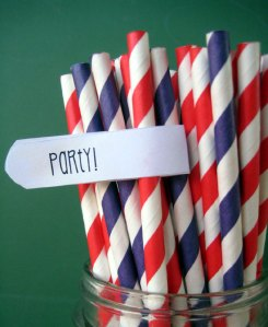 Red/Purple Paper Straws