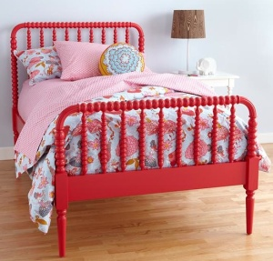 Red Jenny Lind Bed