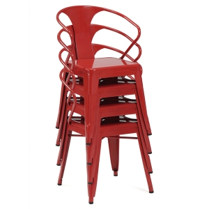 Red Metal Chairs
