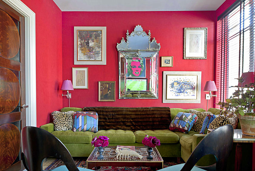 10 amazing pink living room interior design ideas https for Green and pink living room ideas