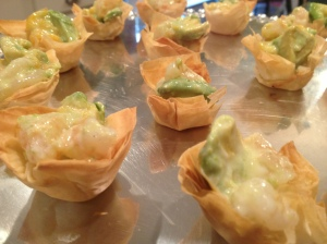 Shrimp-Mango-Avocado Cups