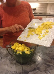 Add Mango to salad.