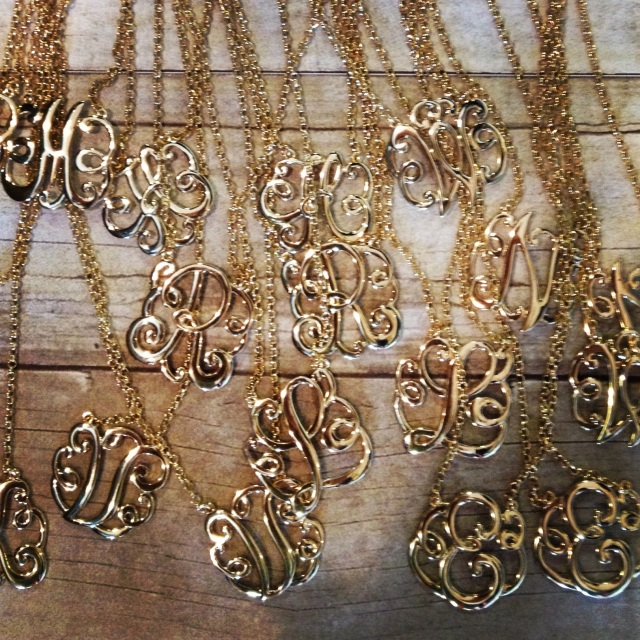 The Glitter Life Initial Necklaces