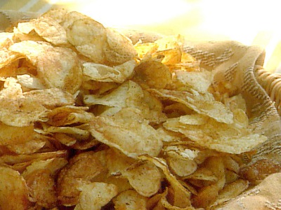 The Glitter Life Homemade Potato Chips