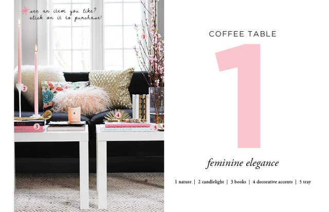 The Glitter Life Coffee Table Styling