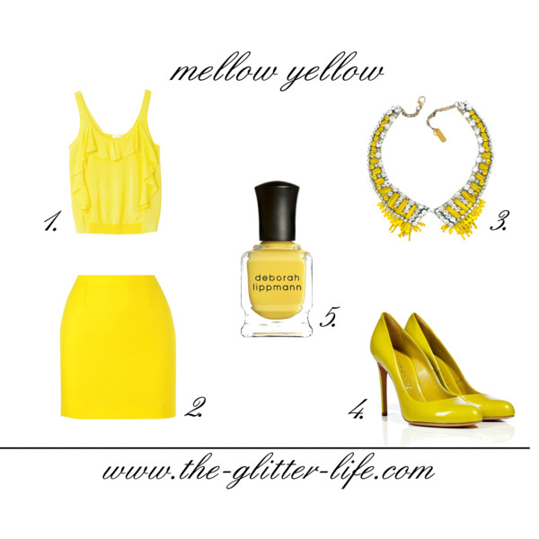 the glitter life mellow yellow
