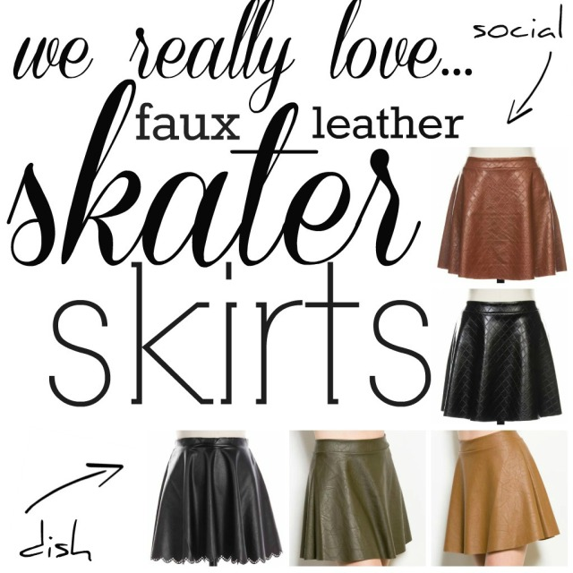 The Glitter Life Skater Skirt Collage