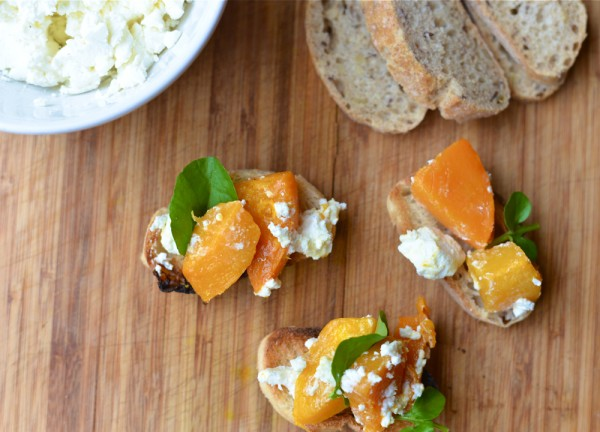 Butternut Squash Goat Cheese Crostini