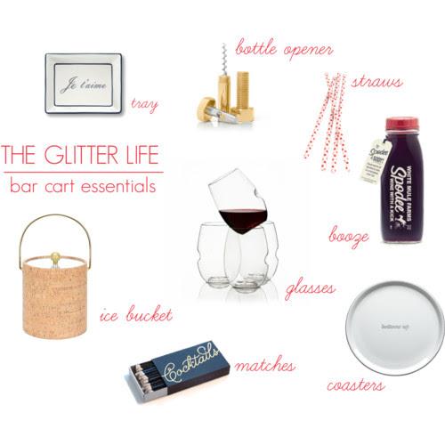 The Glitter Life Bar Cart