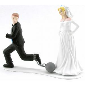 Funny Wedding Cake Toppers Ball And Chain