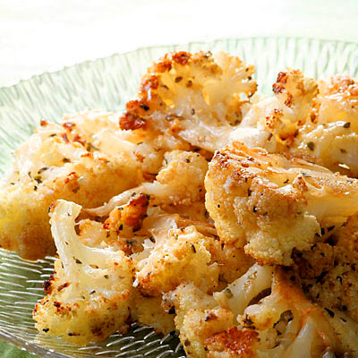 Balsamic + Parmesan Roasted Cauliflower