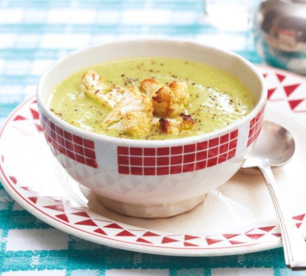 Cauliflower  Arugula Soup
