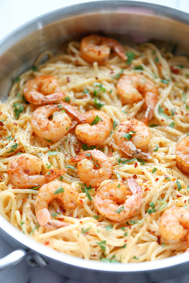 quick and easy: bang bang shrimp pasta. | The Glitter Life