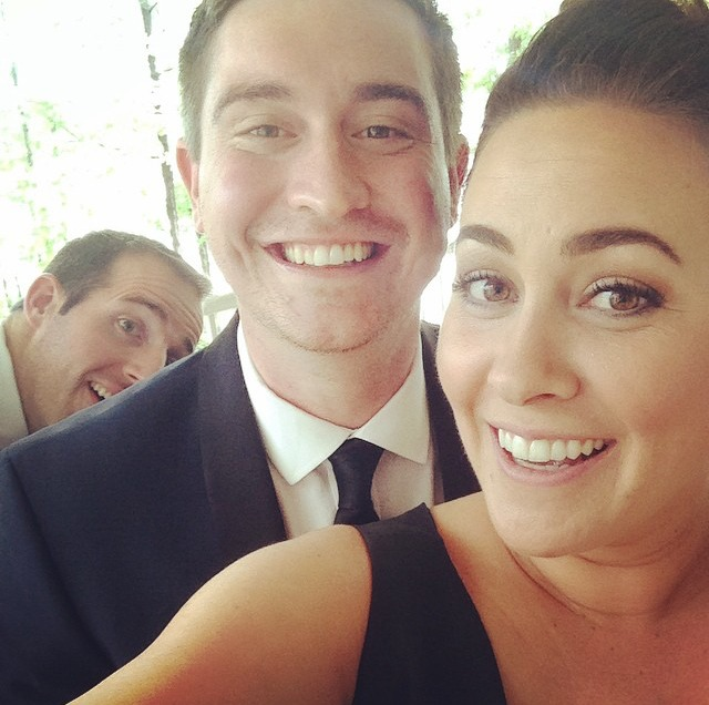 bridesmaid maggie + talmadge. photo bomb: brendan.