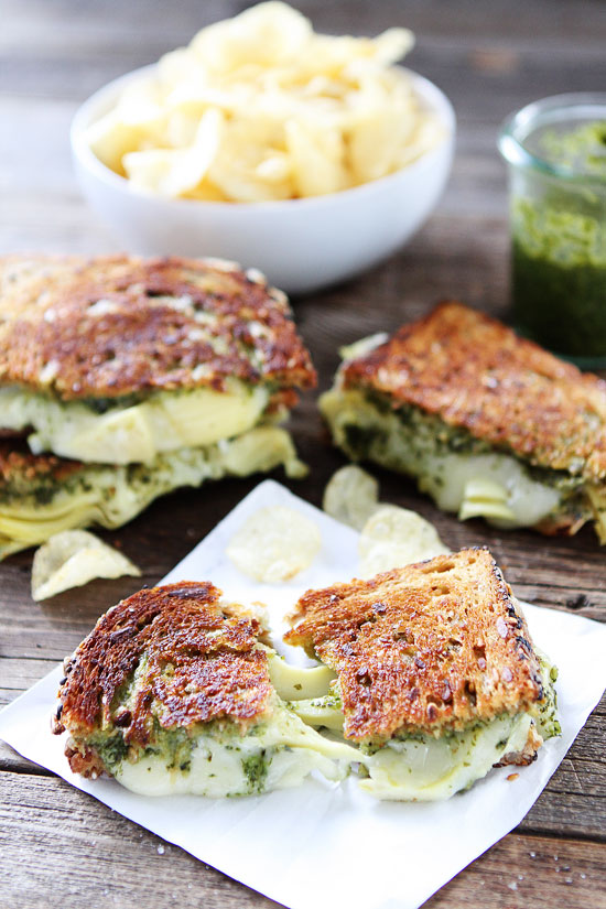 The Glitter Life Pesto Artichoke Sandwich