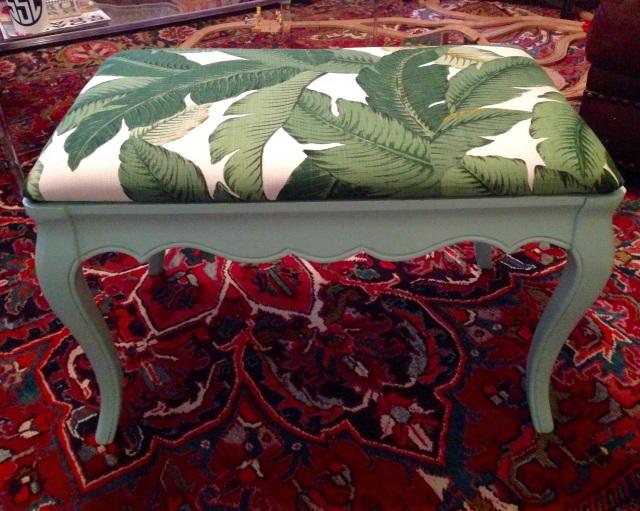 Palm print bench