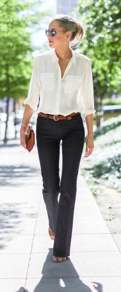 Flares + Button Down