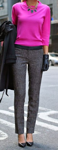 slim sweater + skinny pants.