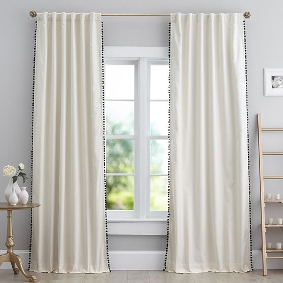 Pottery Barn Pom Drapes