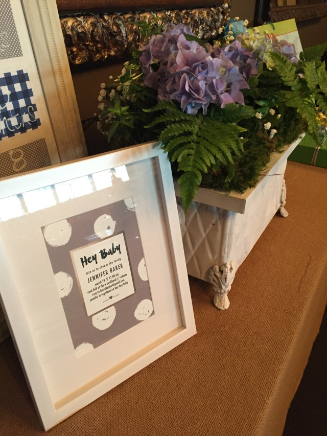 framed invitation